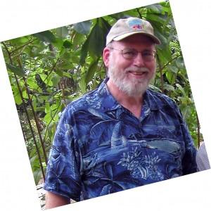 George Graves in Hawaiian shirt and eBay baseball cap
